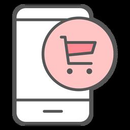 Icono de color de notificación de aplicación de entrega