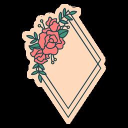Moldura floral diamante