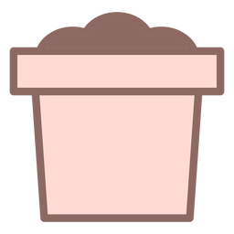 Dirt plant pot icon flat