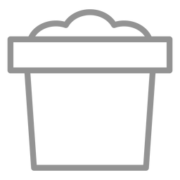 Dirt plant pot icon stroke