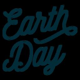 Tag der Erde Schriftzug
