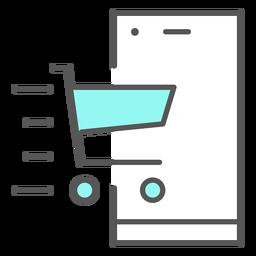 Ícone de cor de notificação de aplicativo de entrega rápida