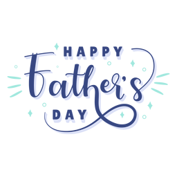 Fathers day celebration lettering