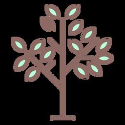 Icono de árbol de pocas hojas