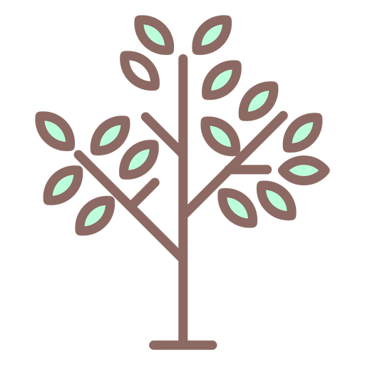 Few leaves tree icon Transparent PNG
