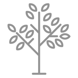 Few leaves tree icon stroke