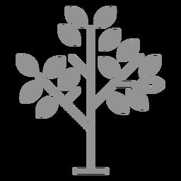 Trazo de icono de árbol de pocas hojas