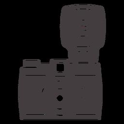 Icono de flash vintage cámara negra