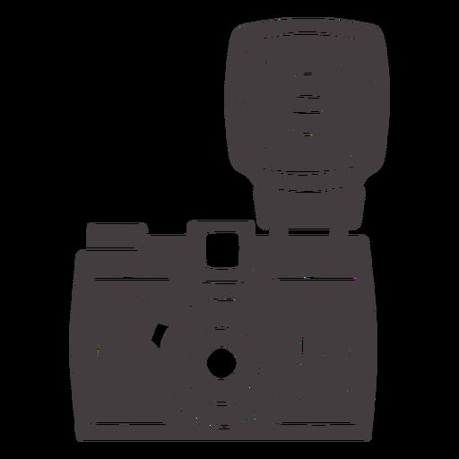 Flash vintage camera black icon