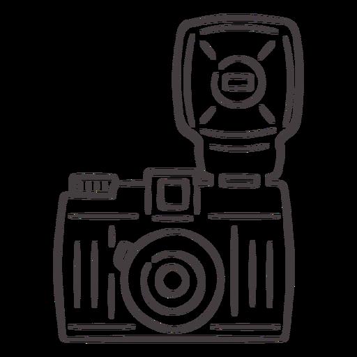 Flash vintage camera stroke icon