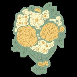 Flower bouquet hand drawn
