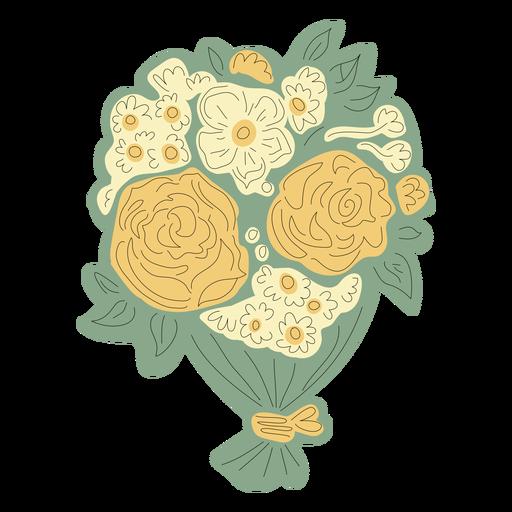 Dibujado a mano ramo de flores