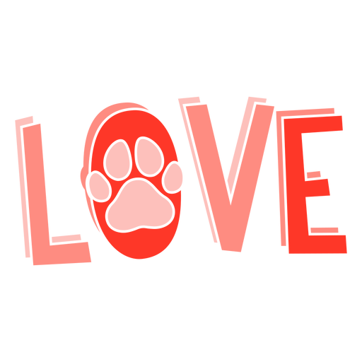 Footprint love lettering