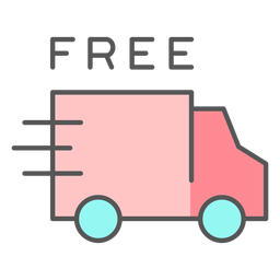Free delivery color icon