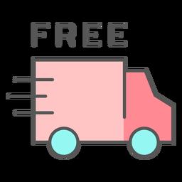 Icono de color de envío gratis