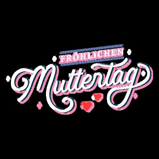 Frohlichen muttertag german lettering
