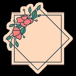 Quadro floral geométrico