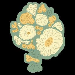 Green flower bouquet hand drawn