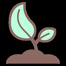 Icono de semilla creciente