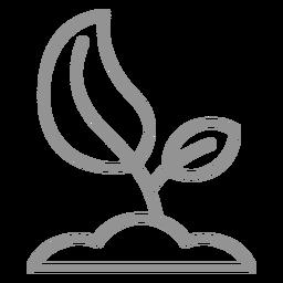 Trazo de icono de semilla creciente