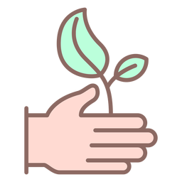 Hand giving plant icon