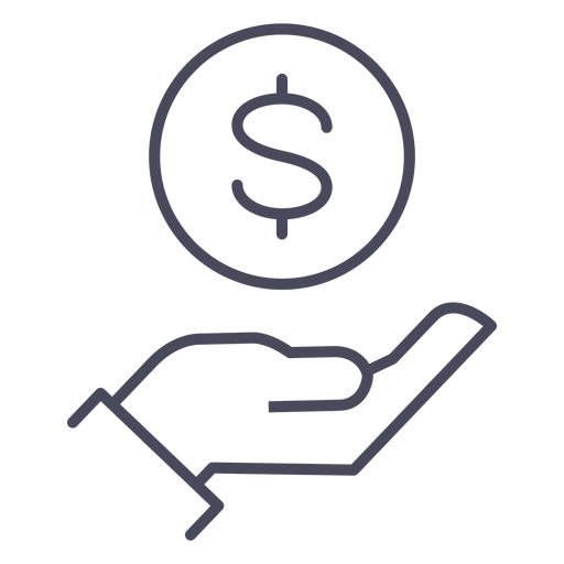 Hand with money icon hand Transparent PNG