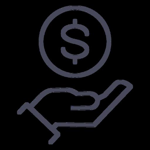 Mano con mano de icono de dinero Transparent PNG