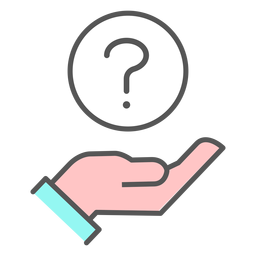 Hand with question mark icon