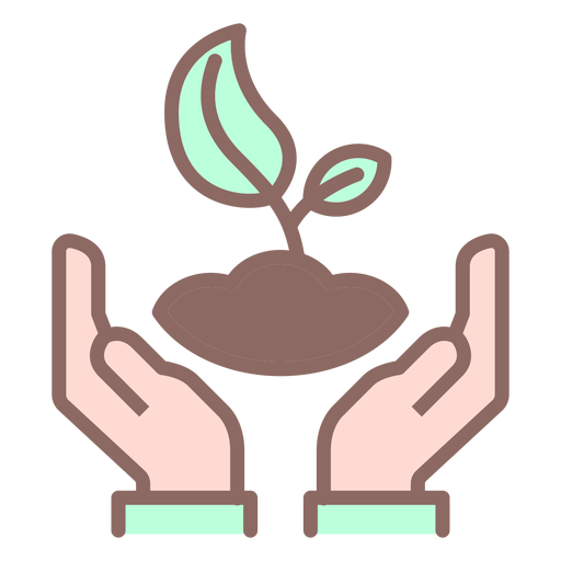 Hands holding plant Transparent PNG
