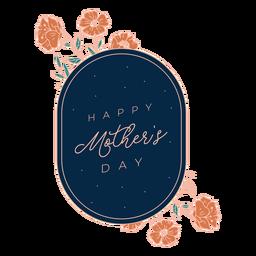 Insignia del día de las madres felices