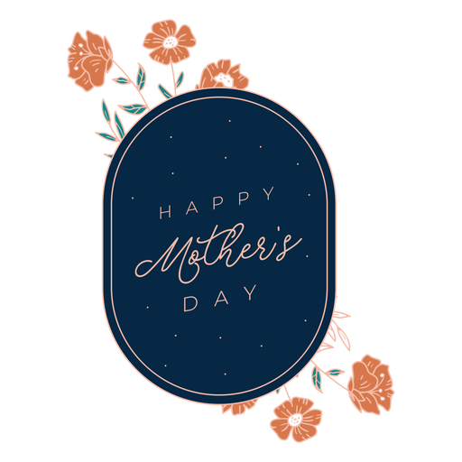 Happy mothers day badge Transparent PNG