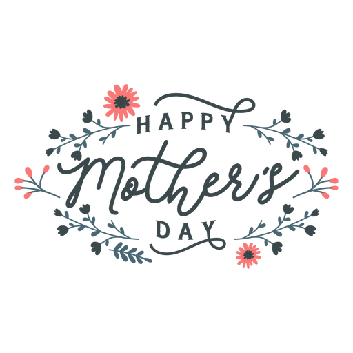 Happy mothers day lettering Transparent PNG