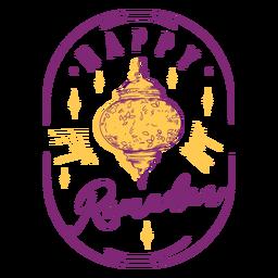 Happy ramadan lantern badge