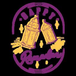 Happy ramadan lights badge