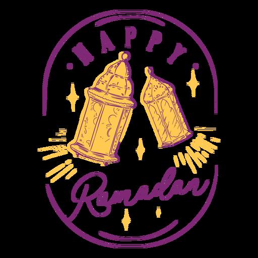 Insignia de luces de ramadán feliz