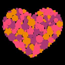 Corazón hecho de flores