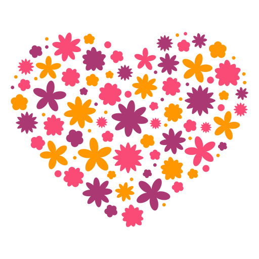 Heart of flowers Transparent PNG