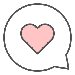 Balão de coração em conversa