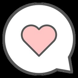 Heart in conversation bubble