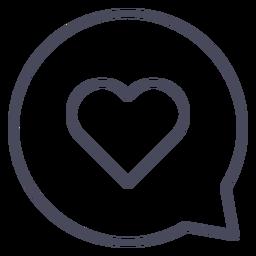 Heart in conversation bubble heart