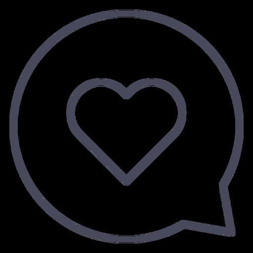 Corazón en corazón de burbuja de conversación