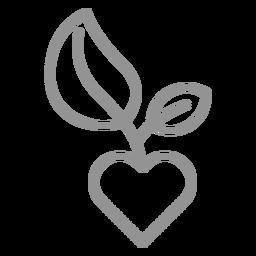 Corazón con trazo de arbolito