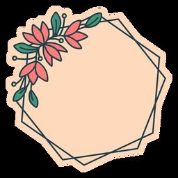 Quadro floral hexágono