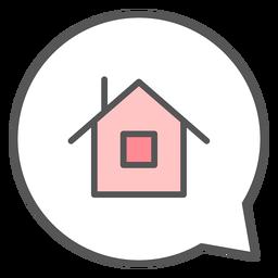 Casa na bolha de conversa