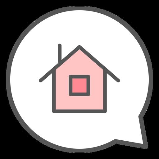 House in conversation bubble