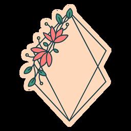 Marco floral de cometa