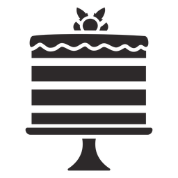 Layered cake black