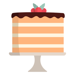Strawberry Piece Of Cake Flat Transparent Png Svg Vector File
