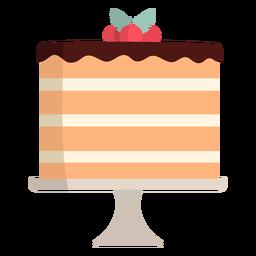 Pastel plano de vainilla en capas