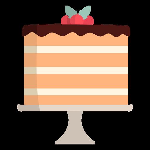 Layered vanilla cake flat Transparent PNG
